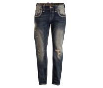 Destroyed-Jeans KENT Straight-Fit - blau