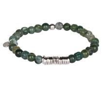 Armband DISC - grün/ silber