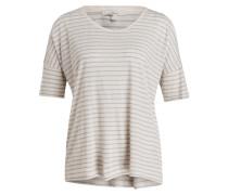 Leinenshirt - creme/ hellblau