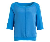 Shirt im Materialmix - blau