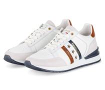 Sneaker - WEISS/ DUNKELBLAU/ BRAUN