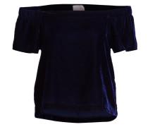 Off-Shoulder-Shirt - navy