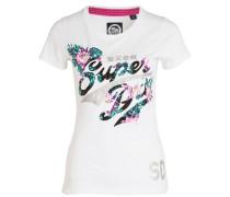 T-Shirt - weiss/ mint/ rosa
