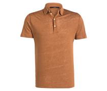 Leinen-Poloshirt LEONE - braun