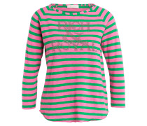 Longsleeve - rosa/ grün gestreift
