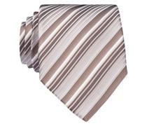 Krawatte - weiss/ taupe