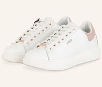 Plateau-Sneaker - WEISS/ NUDE