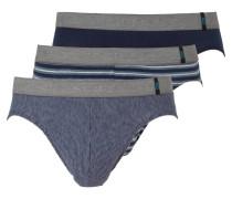 3er-Pack Slips - blau