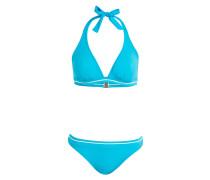 Neckholder-Bikini - blau