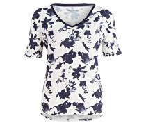 Loungeshirt - weiss/ blau