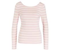 Feinstrickpullover - weiss/ rosa