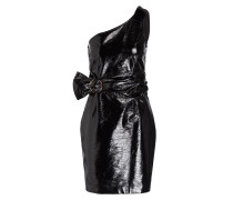 One-Shoulder-Kleid ADA - schwarz metallic
