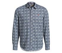 Hemd GOHY Regular-Fit - blau/ weiss