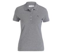 Piqué-Poloshirt Slim Fit - schwarz/ weiss