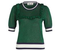 Strickshirt - grün/ weiss/ navy