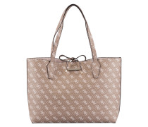 Wende-Shopper BOBBI - taupe/ rosa