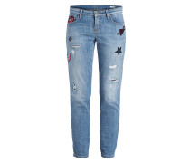 Jeans LILI mit  Patches - blau