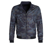 Blouson in Camouflage-Optik - blau