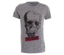 T-Shirt SKULL PRINT - grau