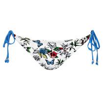 Bikini-Hose - weiss/ blau