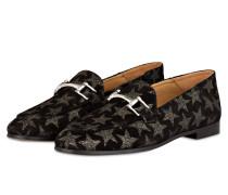 Loafer - schwarz/ silber