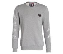 Sweatshirt RESPECT - grau meliert/ weiss