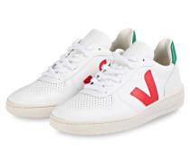 Sneaker V-10 - WEISS/ ROT