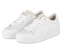 Sneaker UP mit Perlenbesatz - weiss