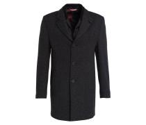 Mantel mit abnehmbarer Blende - dunkelgrau