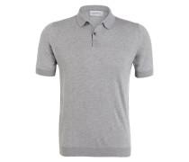 Feinstrick-Poloshirt RHODES - grau meliert