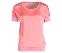 T-Shirt im Materialmix - pink