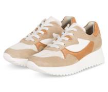 Plateau-Sneaker - BEIGE/ COGNAC/ WEISS