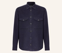 Overjacket aus Flanell