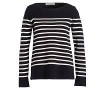 Pullover - navy/ offwhite gestreift