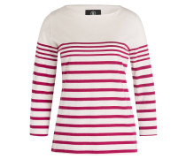 Shirt LOUNA mit 3/4-Arm - creme/ fuchsia