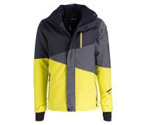 Skijacke IDAHO - grau/ gelb