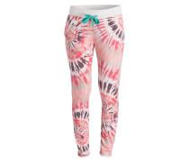 Sweatpants - rosa/ creme/ schwarz