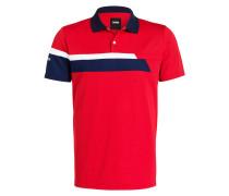 Poloshirt - rot/ marine/ weiss gestreift