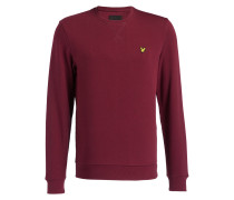 Sweatshirt - weinrot