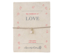 Armband und Notizbuch LOVE - anthrazit