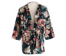 Kimono - dunkelgrün/ rosa/ beige