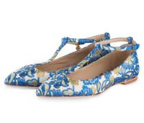 Brokat-Ballerinas ASHTON - blau/ beige