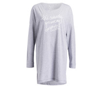 Nachthemd - grau meliert