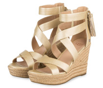 Wedges RAQUEL - gold metallic