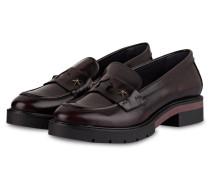 Penny-Loafer mit Nietenbesatz - bordeaux