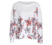 Sweatshirt - weiss/ koralle / lila