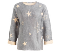 Pullover STAR - grau/ nude meliert