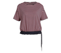 T-Shirt - rosa/ schwarz gestreift