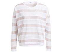 Pullover - weiss/ beige gestreift
