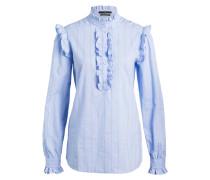 Bluse - hellblau/ gestreift
